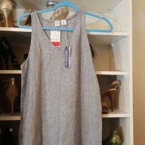 Long 100% tank  linen dress